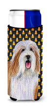 Bearded Collie Candy Corn Halloween Portrait Ultra Beverage Insulators for slim cans LH9071MUK by Caroline's Treasures