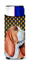 Basset Hound Candy Corn Halloween Portrait Ultra Beverage Insulators for slim cans LH9073MUK by Caroline's Treasures