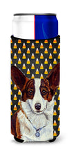 Corgi Candy Corn Halloween Portrait Ultra Beverage Insulators for slim cans LH9074MUK by Caroline's Treasures