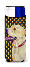 Labrador Yellow Candy Corn Halloween Portrait Ultra Beverage Insulators for slim cans LH9079MUK by Caroline's Treasures