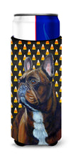 French Bulldog Candy Corn Halloween Portrait Ultra Beverage Insulators for slim cans LH9081MUK by Caroline's Treasures