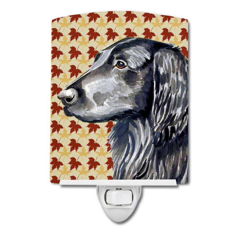 Buy this Flat Coated Retriever Fall Leaves Portrait Ceramic Night Light LH9096CNL