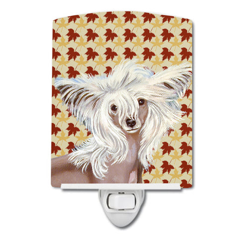 Buy this Chinese Crested Fall Leaves Portrait Ceramic Night Light LH9122CNL