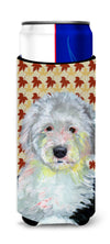 Old English Sheepdog Fall Leaves Portrait Ultra Beverage Insulators for slim cans LH9126MUK by Caroline's Treasures