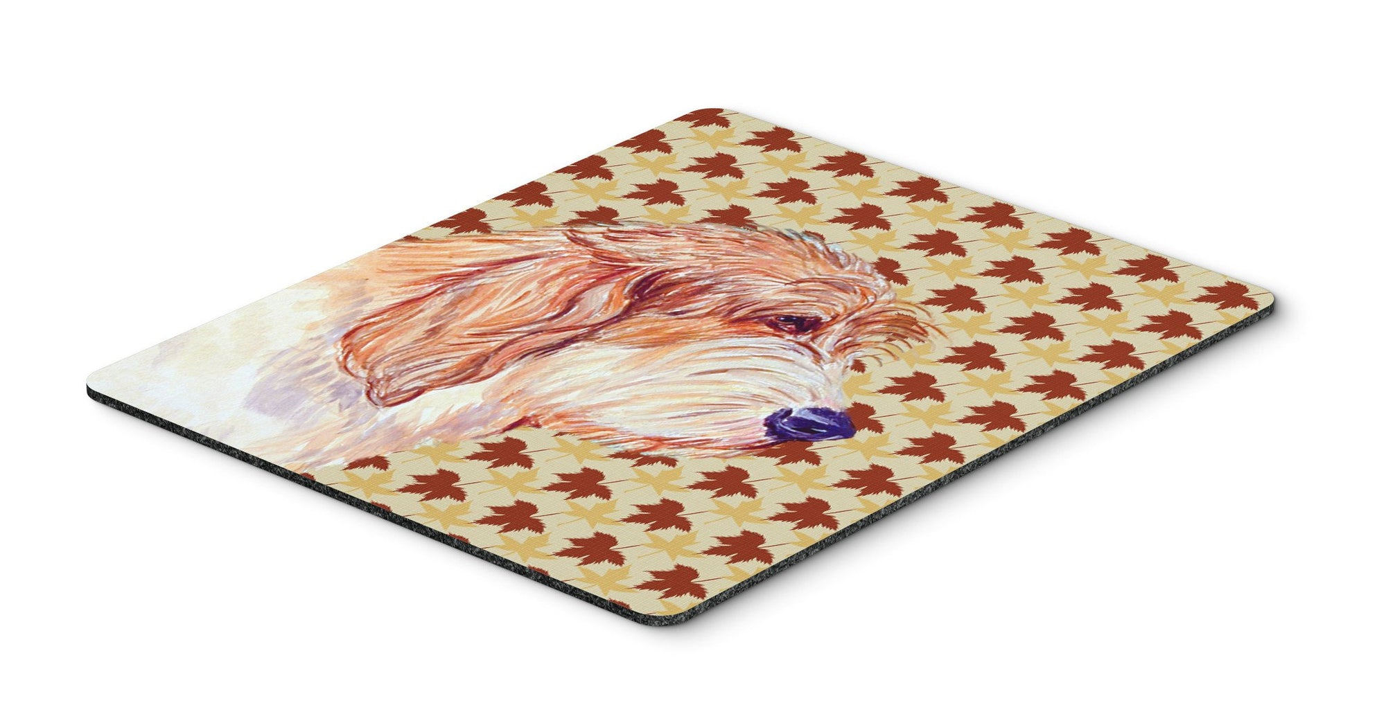 Petit Basset Griffon Vendeen Fall Leaves Portrait Mouse Pad, Hot Pad or Trivet by Caroline's Treasures