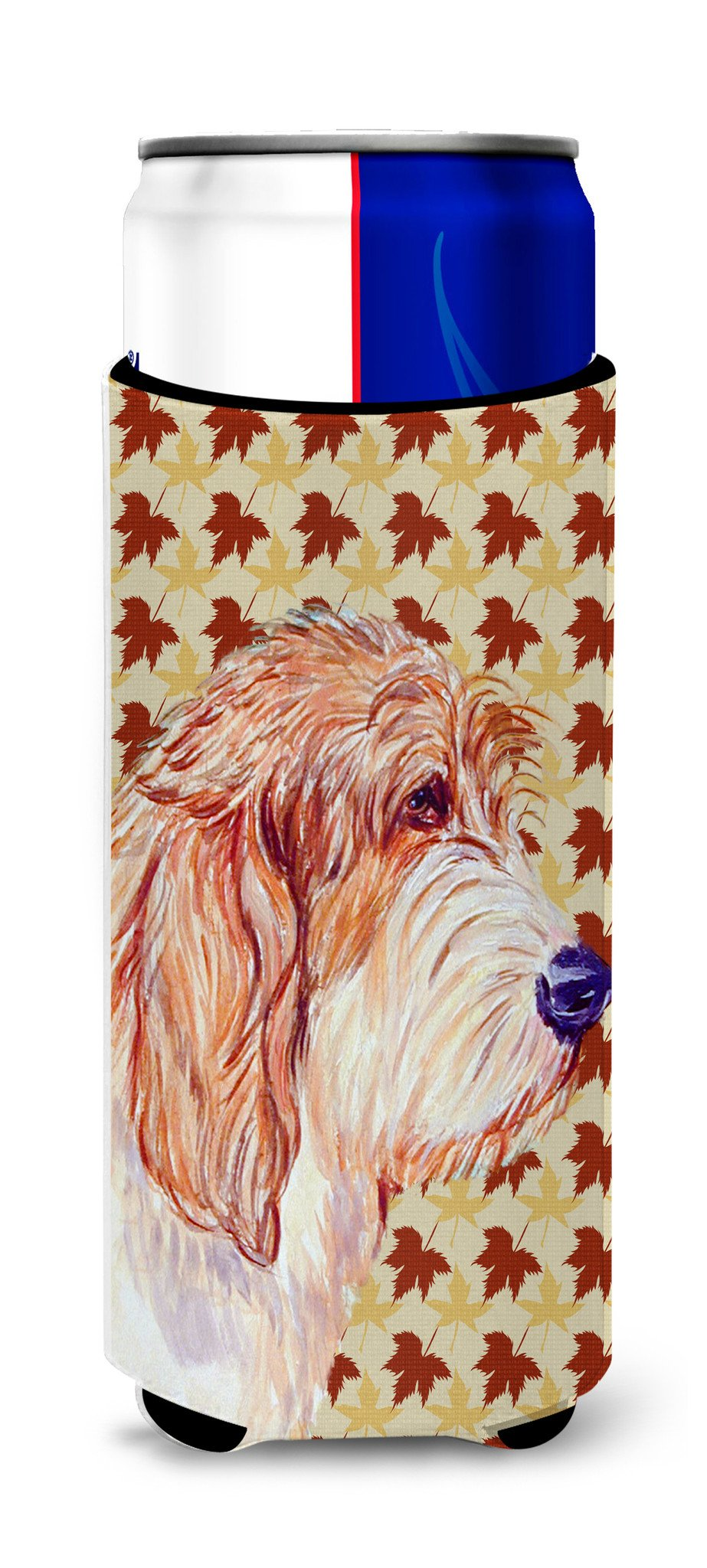 Petit Basset Griffon Vendeen Fall Leaves Portrait Ultra Beverage Insulators for slim cans LH9127MUK by Caroline's Treasures