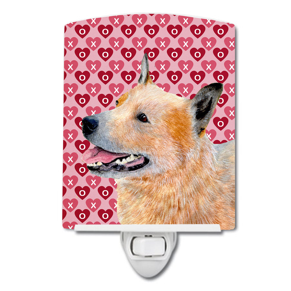 Buy this Australian Cattle Dog Hearts Love Valentine's Day Ceramic Night Light LH9137CNL