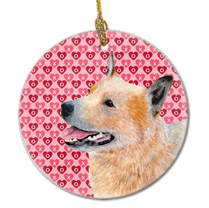 Buy this Australian Cattle Dog Valentine's Love and Hearts Ceramic Ornament