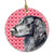Flat Coated Retriever Valentine's Love and Hearts Ceramic Ornament by Caroline's Treasures