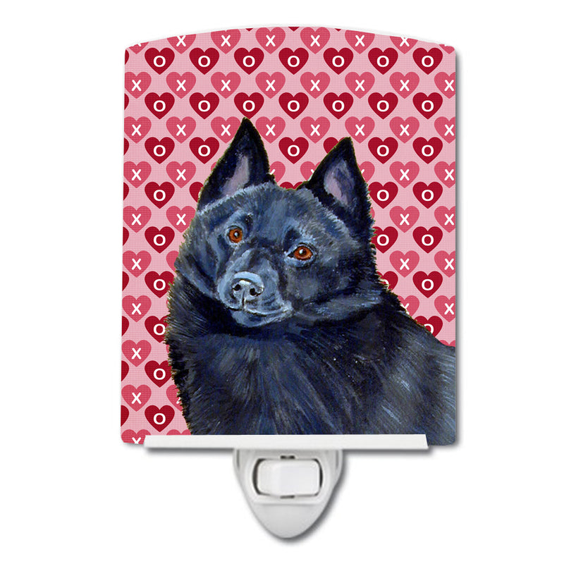 Buy this Schipperke Hearts Love and Valentine's Day Portrait Ceramic Night Light LH9159CNL