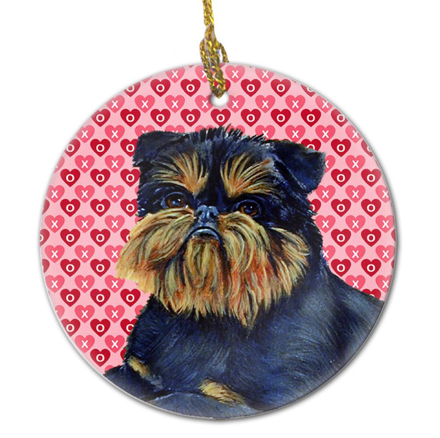 Buy this Brussels Griffon Valentine's Love and Hearts Ceramic Ornament