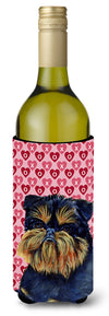 Buy this Brussels Griffon  Love Valentine's Day Portrait Wine Bottle Beverage Insulator Beverage Insulator Hugger