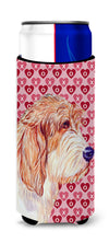 Petit Basset Griffon Vendeen Hearts Love Valentine's Day Ultra Beverage Insulators for slim cans LH9172MUK by Caroline's Treasures