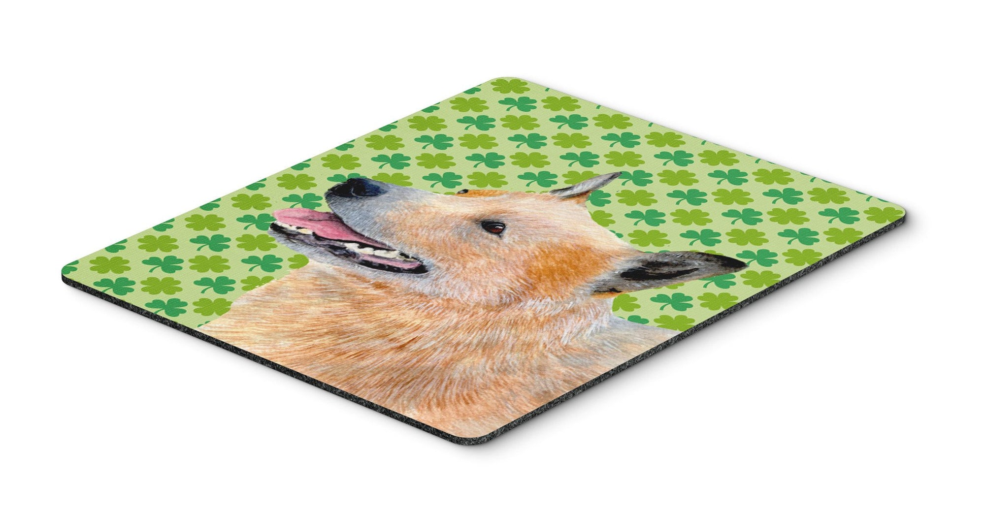 Australian Cattle Dog St. Patrick's Day Shamrock Mouse Pad, Hot Pad or Trivet by Caroline's Treasures