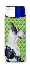 Great Dane St. Patrick's Day Shamrock Portrait Ultra Beverage Insulators for slim cans LH9191MUK by Caroline's Treasures