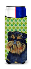 Brussels Griffon St. Patrick's Day Shamrock Portrait Ultra Beverage Insulators for slim cans LH9208MUK by Caroline's Treasures
