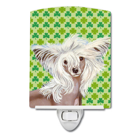 Buy this Chinese Crested St. Patrick's Day Shamrock Portrait Ceramic Night Light LH9212CNL