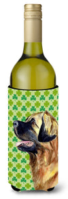 Buy this Leonberger St. Patrick's Day Shamrock Portrait Wine Bottle Beverage Insulator Beverage Insulator Hugger