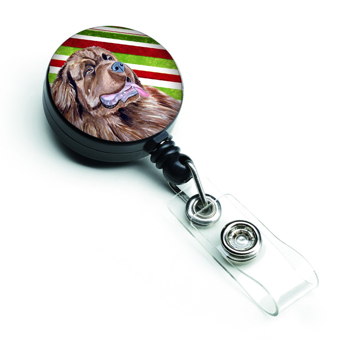 Newfoundland Candy Cane Holiday Christmas Retractable Badge Reel LH9219BR by Caroline's Treasures