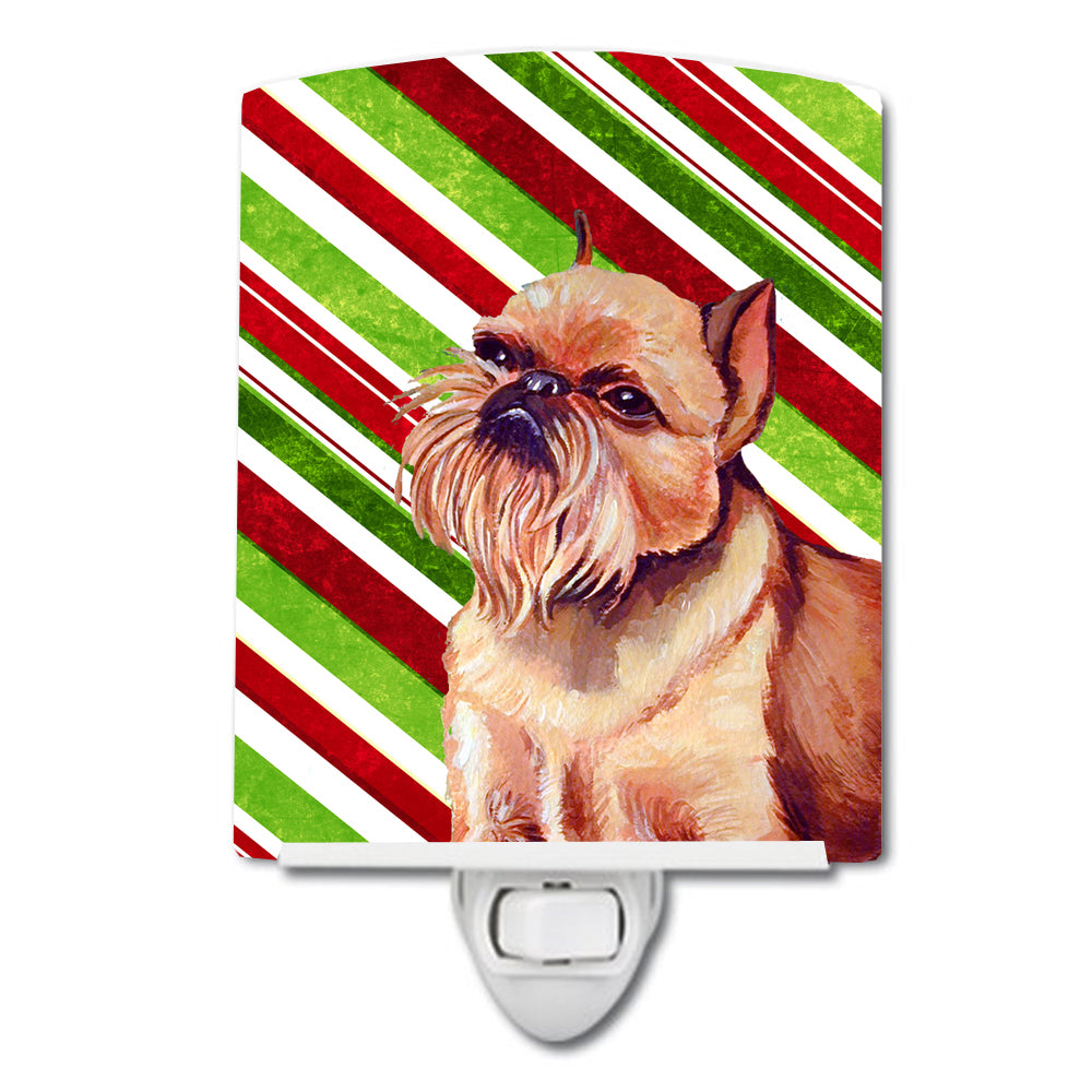 Brussels Griffon Candy Cane Holiday Christmas Ceramic Night Light LH9224CNL by Caroline's Treasures