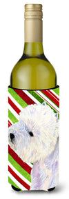 Westie Candy Cane Holiday Christmas Wine Bottle Beverage Insulator Beverage Insulator Hugger by Caroline's Treasures