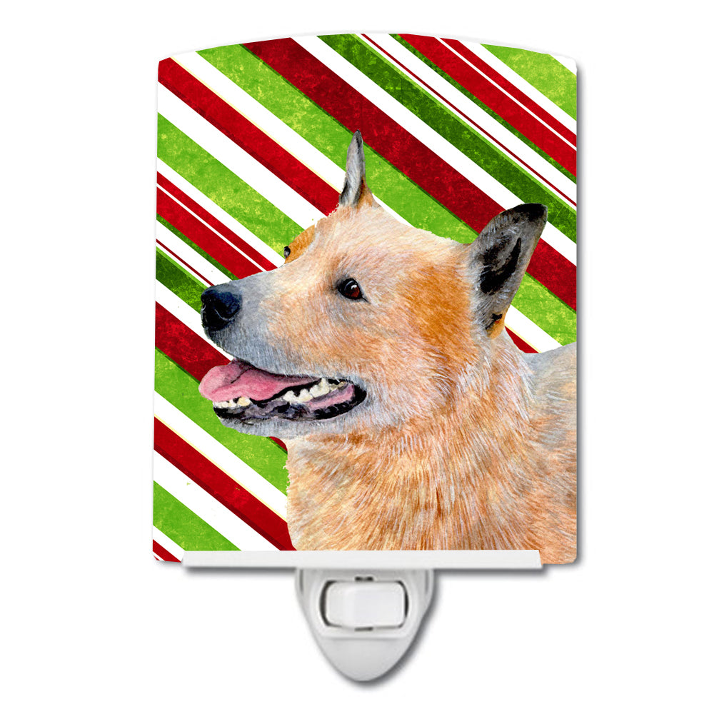 Buy this Australian Cattle Dog Candy Cane Holiday Christmas Ceramic Night Light LH9227CNL