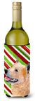 Buy this Australian Cattle Dog Candy Cane Holiday Christmas Wine Bottle Beverage Insulator Beverage Insulator Hugger