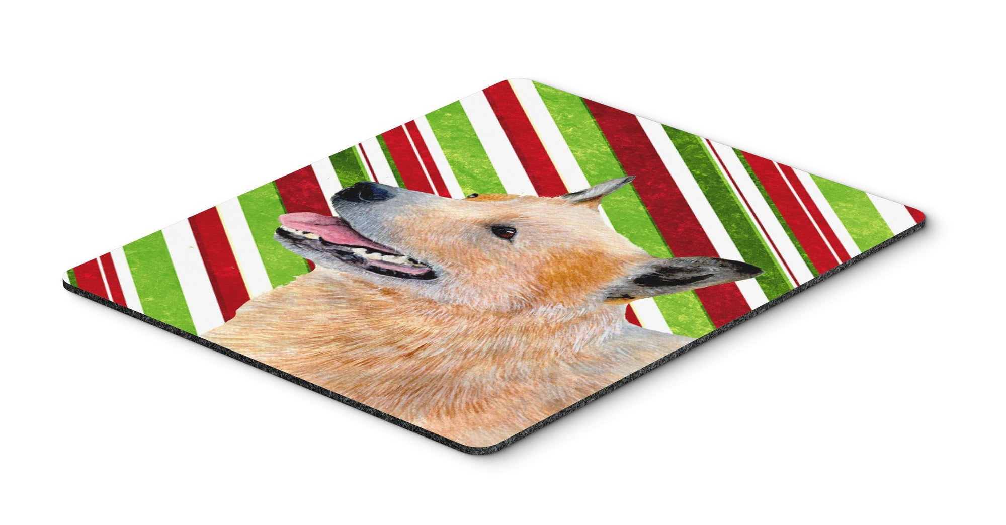Buy this Australian Cattle Dog Candy Cane Holiday Christmas Mouse Pad, Hot Pad or Trivet