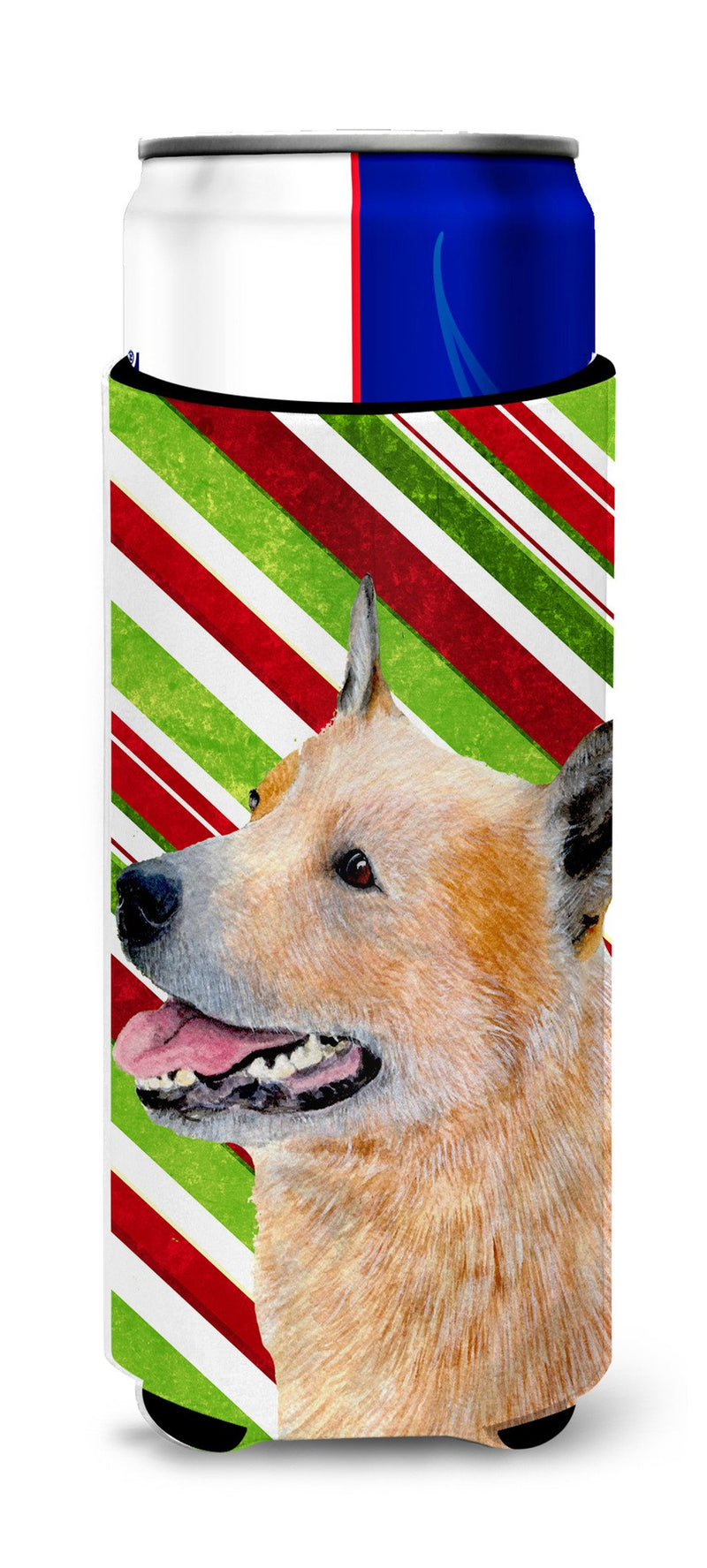 Australian Cattle Dog Candy Cane Holiday Christmas Ultra Beverage Insulators for slim cans LH9227MUK - the-store.com
