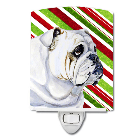 Buy this Bulldog English Candy Cane Holiday Christmas Ceramic Night Light LH9229CNL