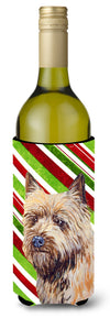 Cairn Terrier Candy Cane Holiday Christmas Wine Bottle Beverage Insulator Beverage Insulator Hugger by Caroline's Treasures