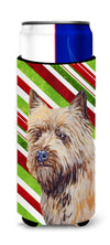 Cairn Terrier Candy Cane Holiday Christmas Ultra Beverage Insulators for slim cans LH9230MUK by Caroline's Treasures