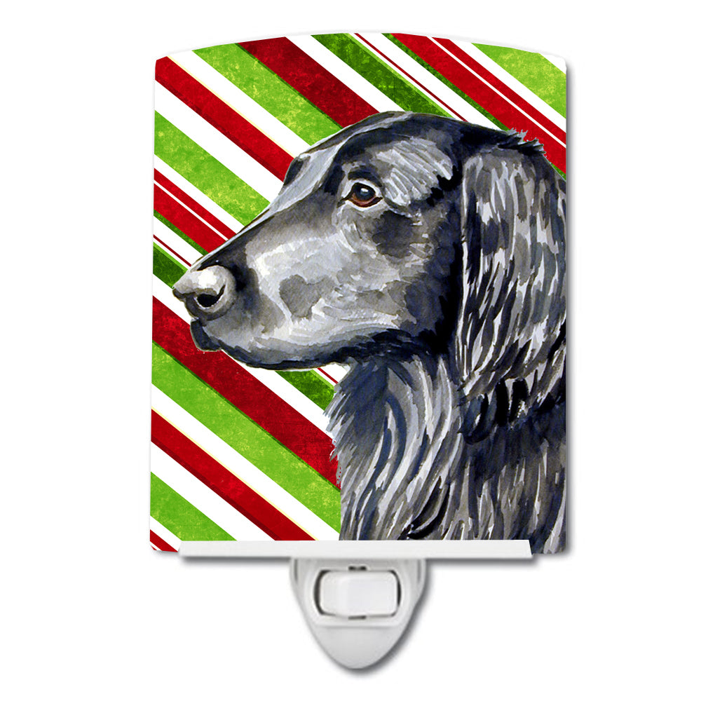 Buy this Flat Coated Retriever Candy Cane Holiday Christmas Ceramic Night Light LH9231CNL