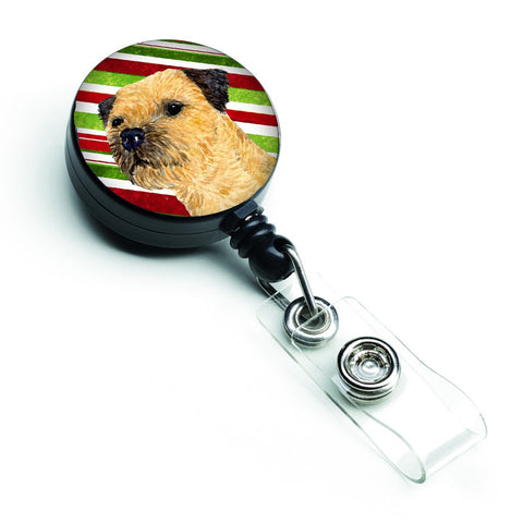 Buy this Border Terrier Candy Cane Holiday Christmas Retractable Badge Reel LH9233BR