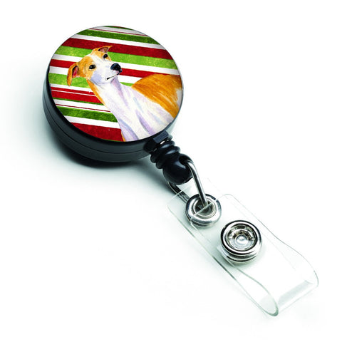 Buy this Whippet Candy Cane Holiday Christmas Retractable Badge Reel LH9238BR
