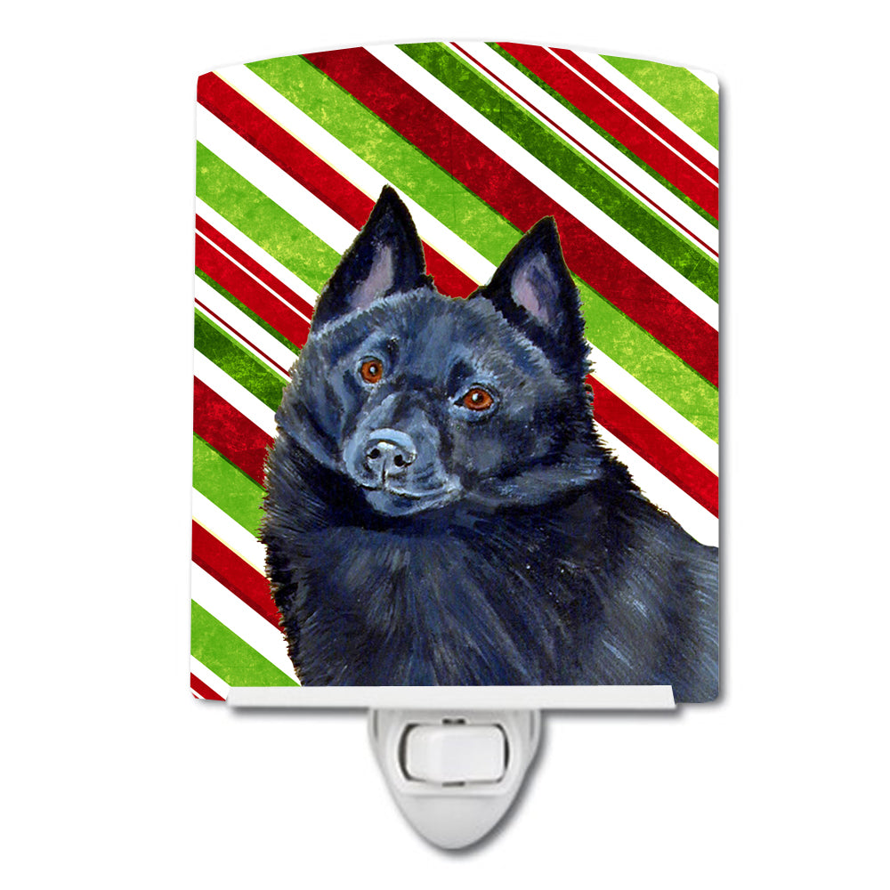 Buy this Schipperke Candy Cane Holiday Christmas Ceramic Night Light LH9249CNL