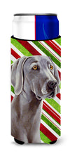 Weimaraner Candy Cane Holiday Christmas Ultra Beverage Insulators for slim cans LH9251MUK by Caroline's Treasures