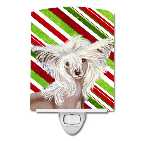 Buy this Chinese Crested Candy Cane Holiday Christmas Ceramic Night Light LH9257CNL