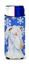 Great Dane Winter Snowflakes Holiday Ultra Beverage Insulators for slim cans LH9266MUK by Caroline's Treasures
