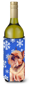 Buy this Brussels Griffon Winter Snowflakes Holiday Wine Bottle Beverage Insulator Beverage Insulator Hugger