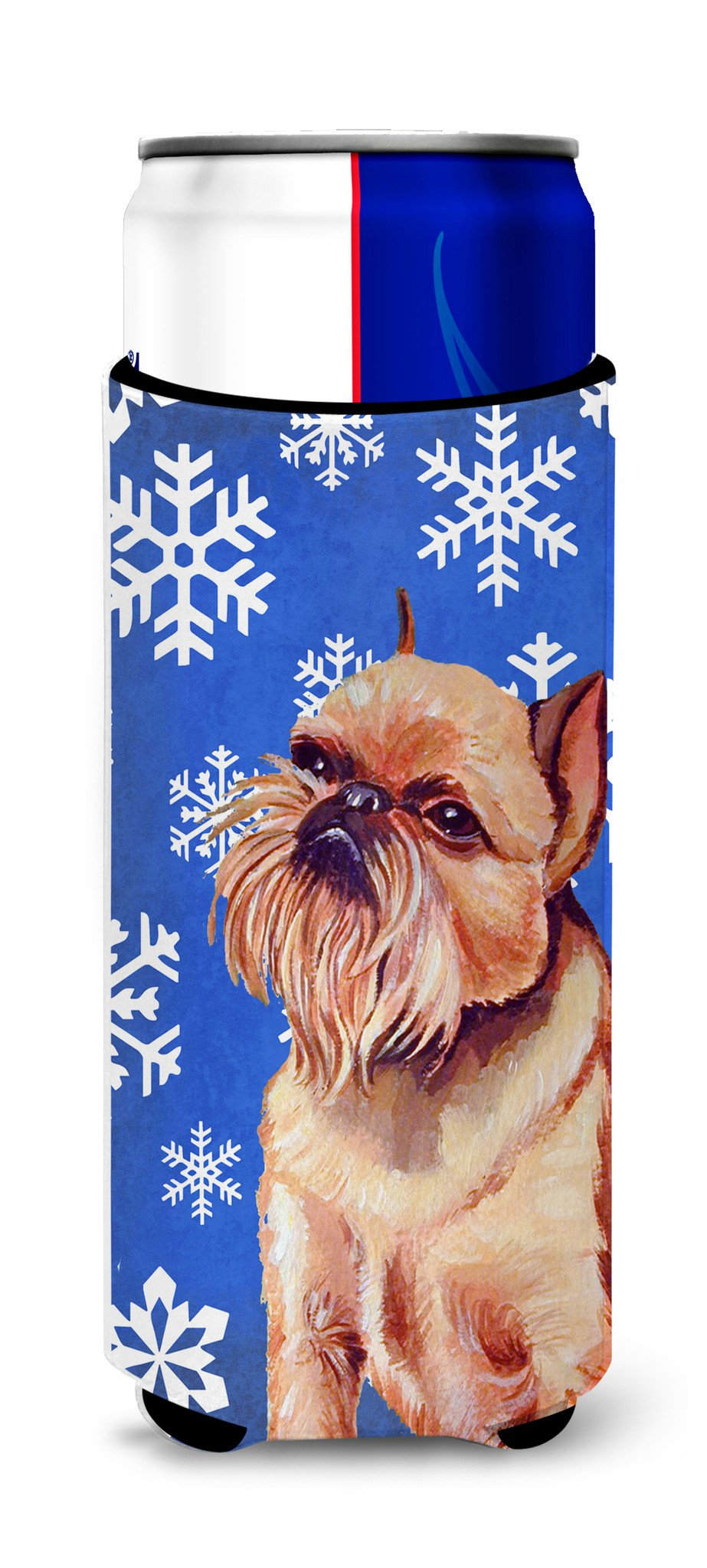 Brussels Griffon Winter Snowflakes Holiday Ultra Beverage Insulators for slim cans LH9269MUK by Caroline's Treasures