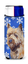 Cairn Terrier Winter Snowflakes Holiday Ultra Beverage Insulators for slim cans LH9275MUK by Caroline's Treasures