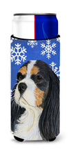Cavalier Spaniel Winter Snowflakes Holiday Ultra Beverage Insulators for slim cans LH9279MUK by Caroline's Treasures