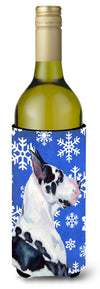 Buy this Great Dane Winter Snowflakes Holiday Wine Bottle Beverage Insulator Beverage Insulator Hugger LH9281LITERK