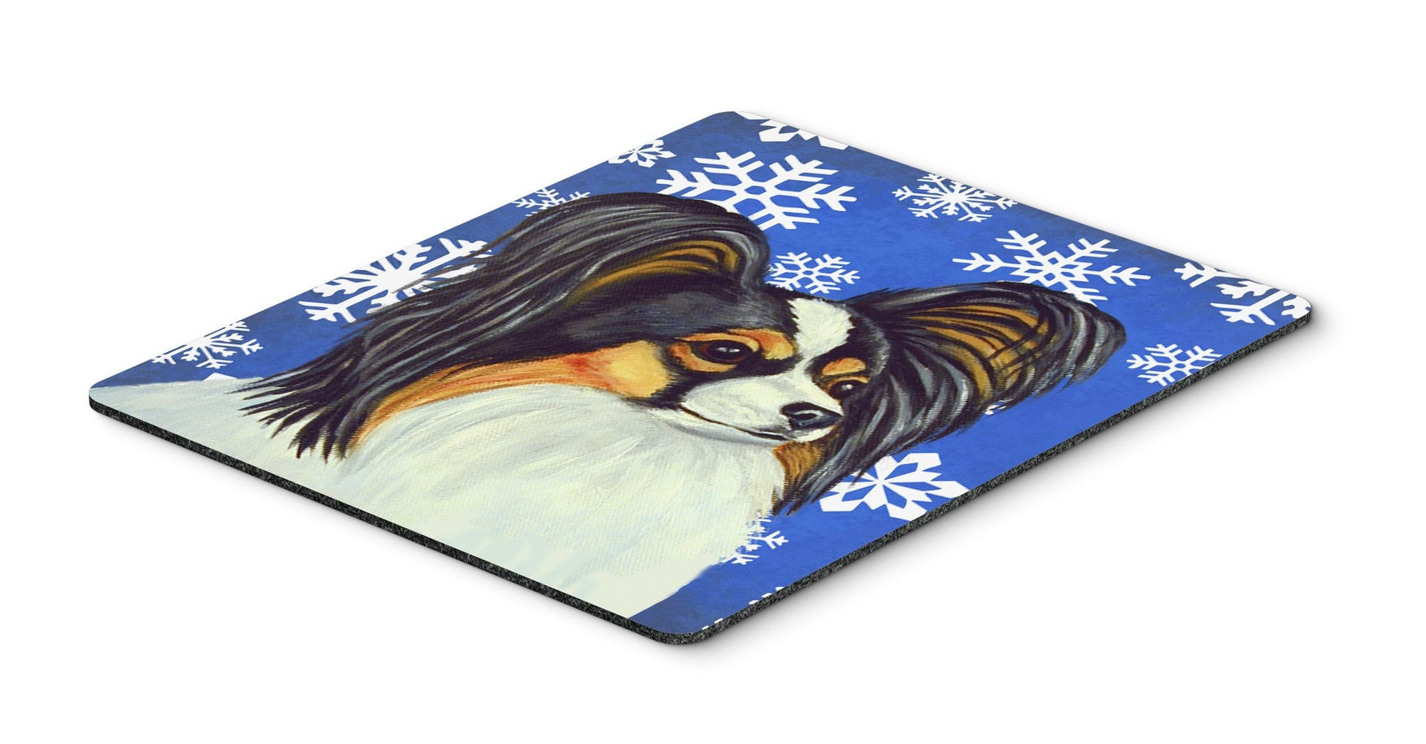 Papillon Winter Snowflakes Holiday Mouse Pad, Hot Pad or Trivet by Caroline's Treasures