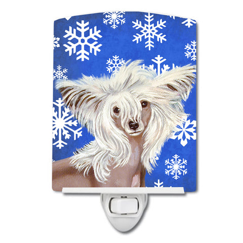 Buy this Chinese Crested Winter Snowflakes Holiday Ceramic Night Light LH9302CNL
