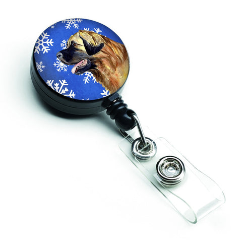 Buy this Leonberger Winter Snowflakes Holiday Retractable Badge Reel LH9303BR