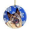 Norwegian Elkhound Winter Snowflake Holiday Ceramic Ornament LH9308 by Caroline's Treasures