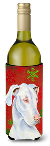 Great Dane Red and Green  Holiday Christmas Wine Bottle Beverage Insulator Beverage Insulator Hugger by Caroline's Treasures