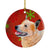 Australian Cattle Dog Red Snowflake Holiday Christmas Ceramic Ornament LH9317 by Caroline's Treasures